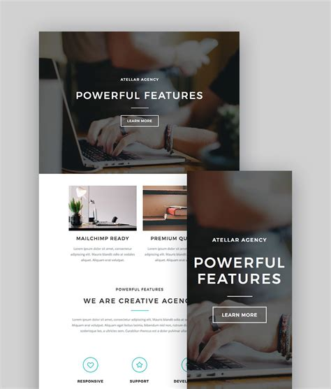 mailchimp premium templates vauss is premium full