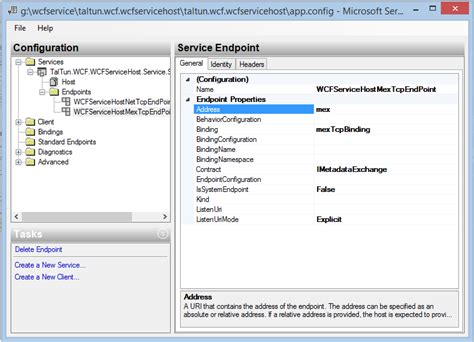 an endpoint configuration section for contract nettcp binding in wcf using window service codeproject