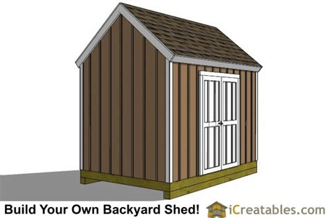 Large Garden Shed Plans by 8x12 Colonial Large Door Shed Plans Backyard Storage