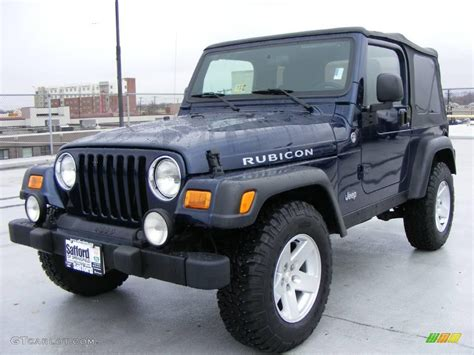 blue jeep rubicon 2006 midnight blue pearl jeep wrangler rubicon 4x4