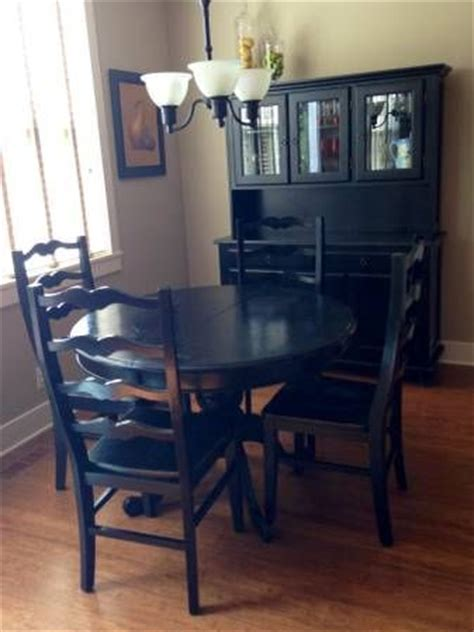 black dining table and hutch dining set purchased at market includes black