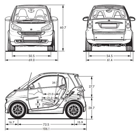 car dimensions in smart car dimensions how to modification great cars