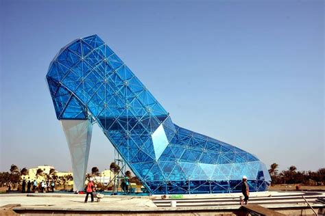 taiwan church shaped like a shoe new taiwanese church resembles cinderella s glass slipper