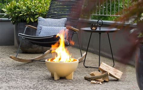 Feuerschale Auf Balkon by Feuerschale Denk Keramik