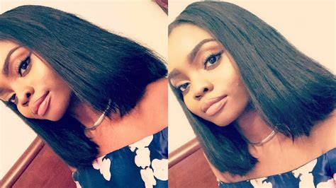 bob quickweave with front closure diy blunt bob with a closure quot quick weave quot youtube