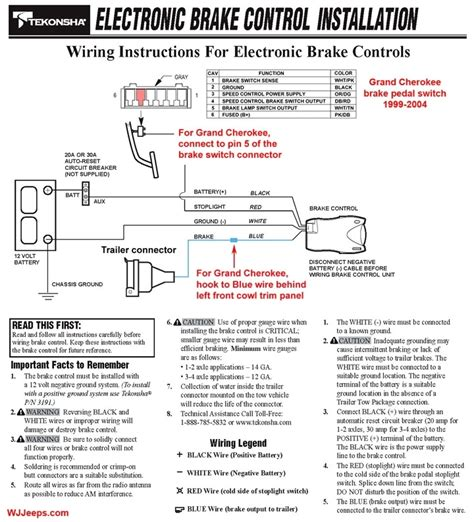tekonsha p3 wiring diagram impulse trailer brake controller wiring diagram wiring