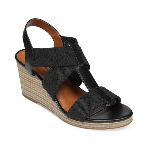 lucky brand sandals lucky brand kalenna platform wedge sandals in black lyst