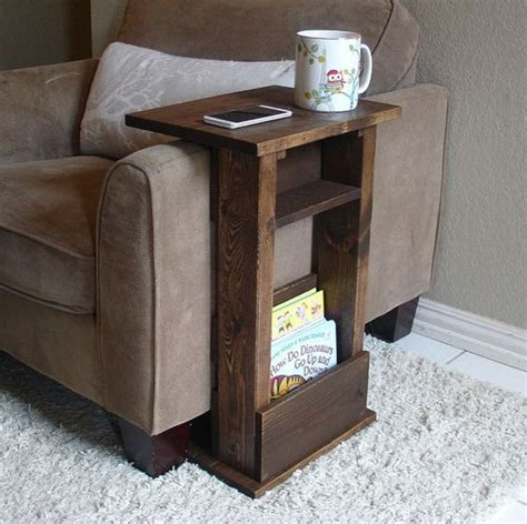 the arm sofa table sofa chair arm rest table stand ii with shelf and storage