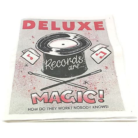 Are Records Free Deluxe Deluxe Magazine Records Are Magic Free With Any Order Normal Magazine