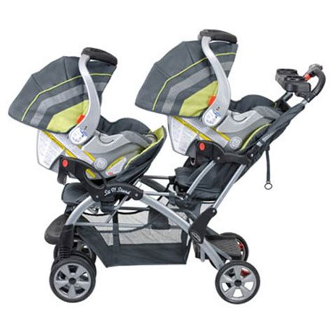 strollers with two car seats baby trend flex loc car seat compatible strollers