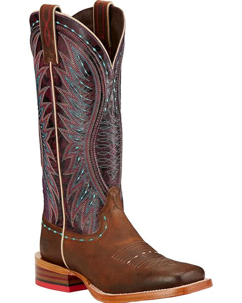 ariat square toe boots womens ariat s vaquera boot square toe 10017364