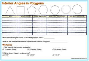 mathworksheets4kids sum of interior angles answers