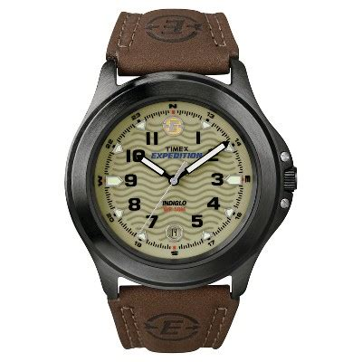 Expedition E6674 Black Leather Green s timex expedition 174 field with leather gray green brown t470129j target