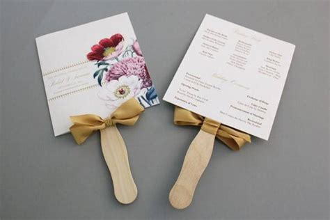 diy wedding program fans diy pretty blooms wedding program paddle fan