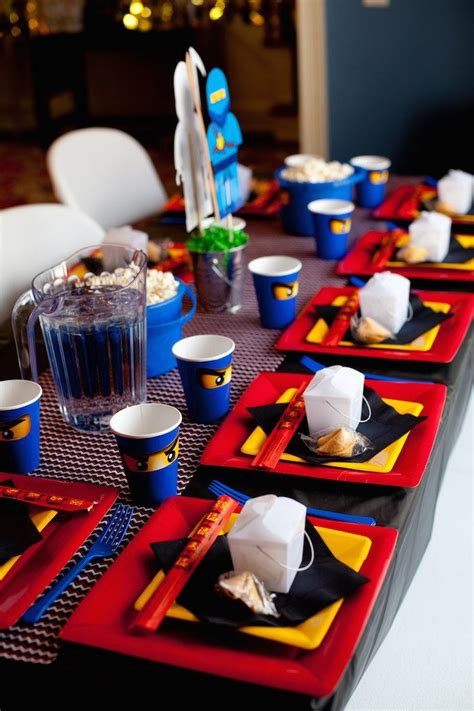 kara s party ideas ninjago themed birthday party planning