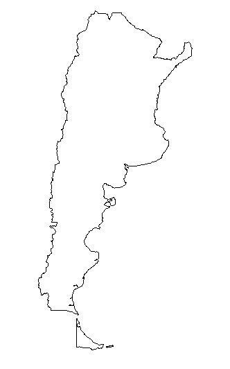Country Outline by Geography Argentina Outline Maps