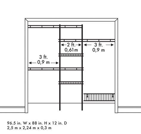 Standard Wardrobe Width - closet organizer kit white color 5 to 8 closetmaid