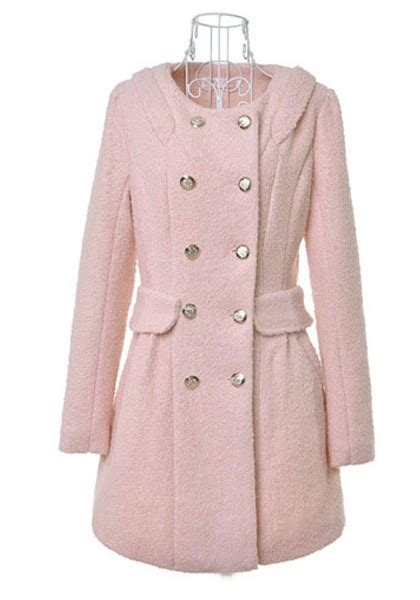 light blue wool coat light pink buttond double breasted wool coat outerwears