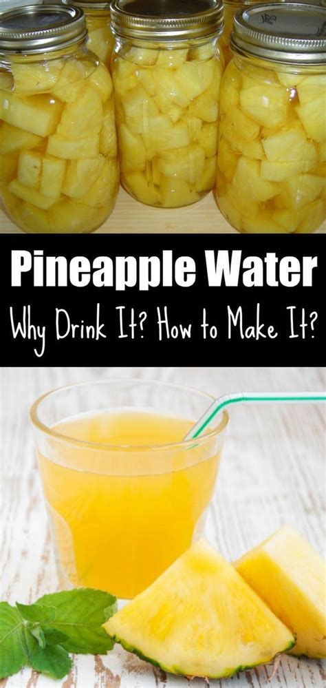 Detox Water Recipes With Pineapple by Pineapple Water Why Drink It How To Make It Water