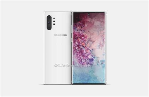 Samsung Galaxy Note 10 Reveal by Samsung Galaxy Note 10 Leaks Reveal A Punch Display