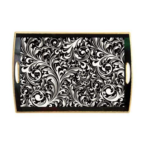 Michel Design Works Decoupage Tray - michel design works black florentine large decoupage
