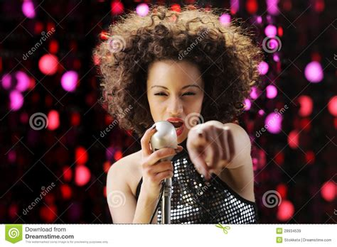 pop star with red curly hair young pop star royalty free stock images image 28934539