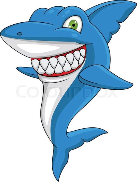happy shark stock vector colourbox