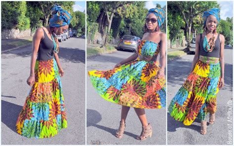 what is african bohemian chic african print maxi skirt dress in vibrant colours rock in