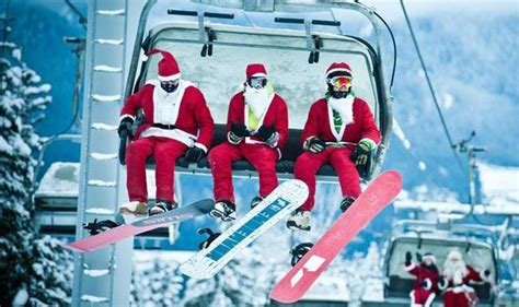 hitting  slopes  santa  christmas travel news