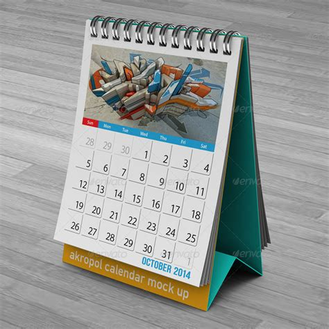 Table Calendar Free Desk Calendar Mock Up In Psd Free Psd Templates