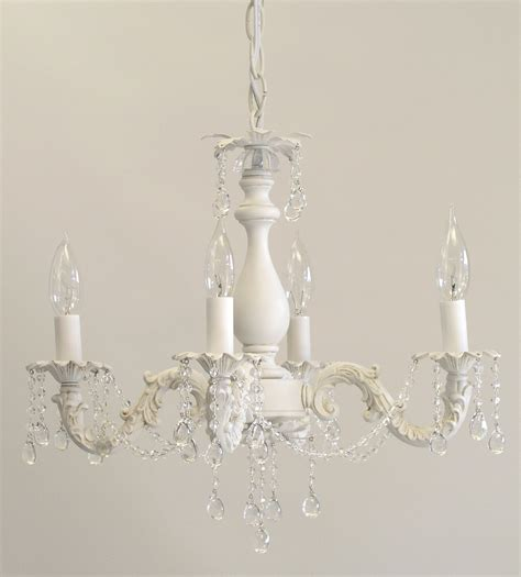 Antique Shabby Chic Mini Chandelier With 4 Lights Home Interior Exterior I Lite 4 U Shabby Chic Style Mini Chandeliers Lighting