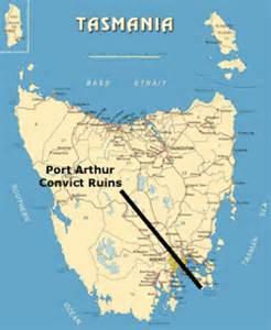 port arthur map truk trips australia port arthur tasmania