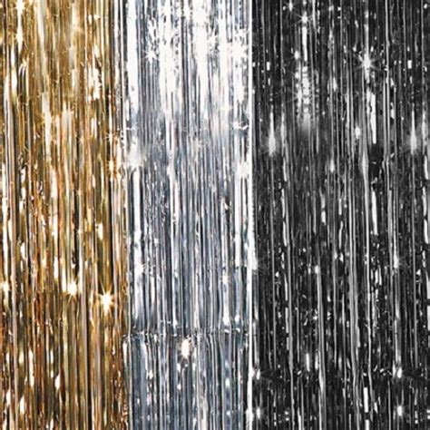 metallic party curtains metallic shimmer curtains 12ft