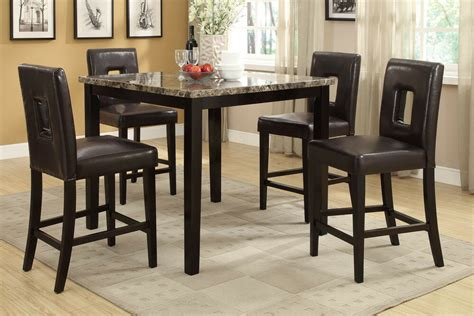 counter height dining chairs pcs set dining room furniture  ebay