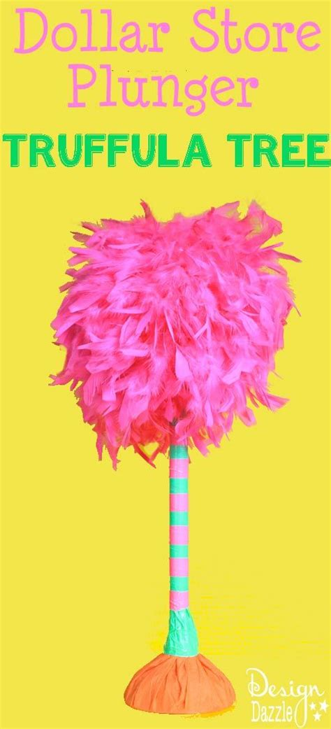 How To Make Truffula Trees Out Of Tissue Paper - truffula tree made from a dollar store plunger dollar