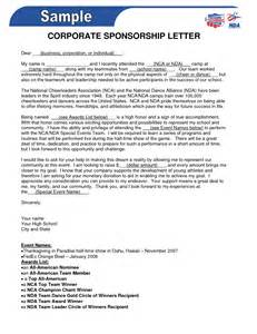 Sponsorship Letter How To Write Doc 728546 How To Write A Letter Requesting Sponsorship With Sle Letters Bizdoska