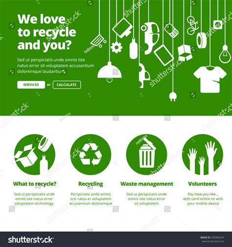 banner design recycle recycle ecology waste management banners one stock vector