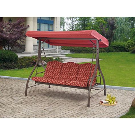 outdoor swing gliders with canopy lowes outdoor 3 triple seater hammock swing glider