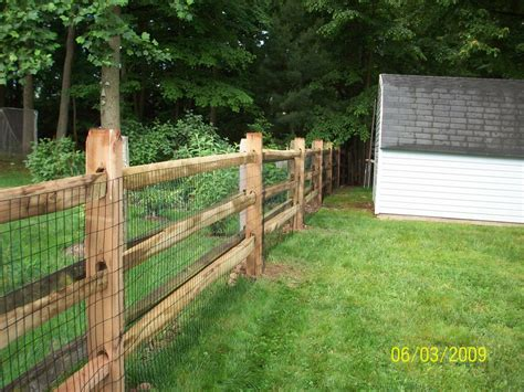 yard fence 3 rail split rail fencing decorative with wire fence to keep dogs in yard lawn