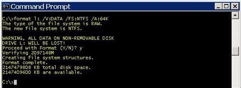 diskpart format unit size format drives with correct allocation and offset for