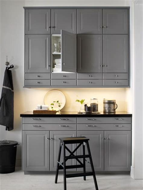 Grey Kitchen Cabinets Ikea Ikea Bodbyn Kitchen Grey Walls Grey And Gray Kitchens