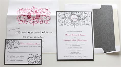 grey and pink wedding invitation cards pink gray wedding invitations blush paperie