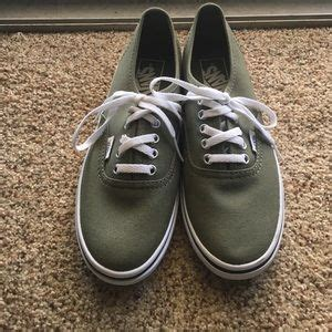 34 vans shoes olive green vans size 6 5 womens from