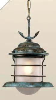 Nautical Kitchen Lighting Fixtures Fredeco Hanging Nautical Pendant With Anchor By Fredeco Lighting