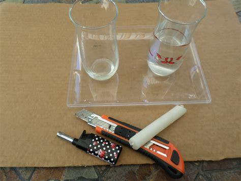 Combustione Candela Il Bicchiere E La Candela La Combustione Esperimento