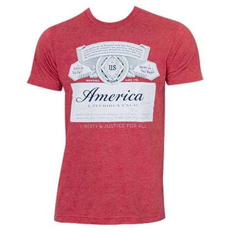 Tees Kaos T Shirt Budweiser official budweiser america shirt buy on offer