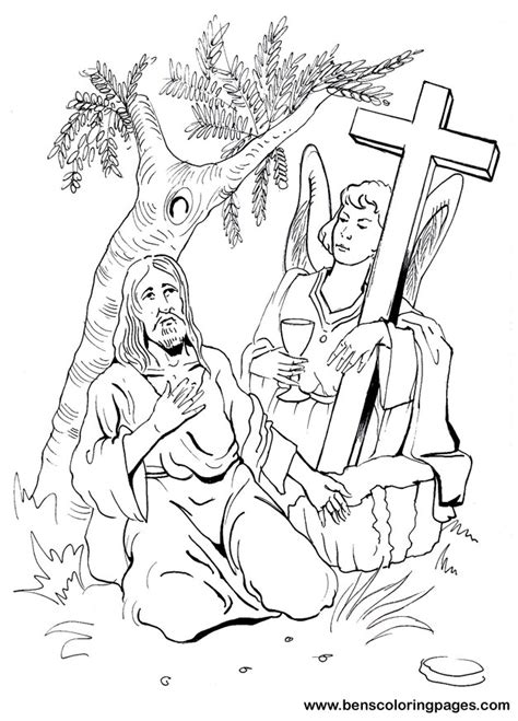 coloring pages jesus in gethsemane jesus praying in the garden of gethsemane free coloring
