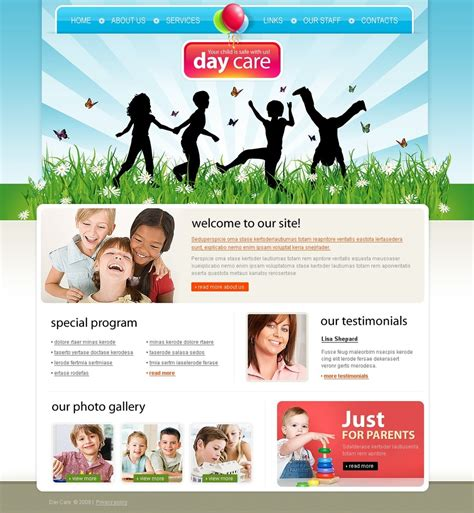Day Care Website Template 24395 Daycare Website Templates Free