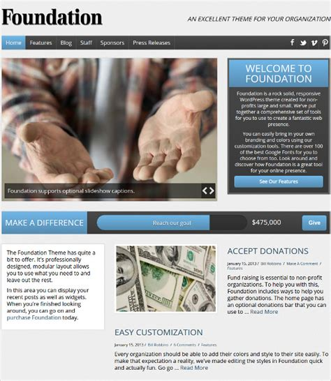 non profit website templates free 19 non profit website themes templates free premium