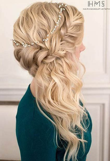 romantic hairstyles down 21 pretty side swept hairstyles for prom wedding